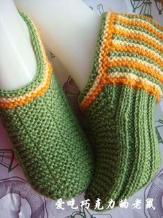 新款毛线袜套--- 新增脚尖编织教程草图 - 芸彩 - 芸彩飘动