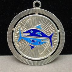 Fish Pisces Zodiac Charm Vintage Sterling Silver Enamel Uno A Erre Italy | eBay