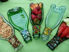 Beaded Wine Bottle Serving Tray: