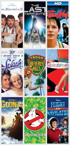 Favorite '80s movies tweens will love: list of 20 on the site