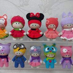 """Bambola Amigurumi """"Big Head Baby Doll"""" (aka BHBD)"""