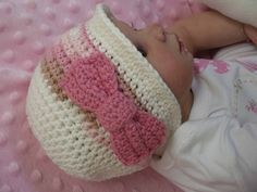 Baby Crochet Hat Pattern - Autumn Cloche with a Bow - Crochet Pattern No.105 Emailed2U FOUR sizes suits BEGINNERS. $4.00, via Etsy.