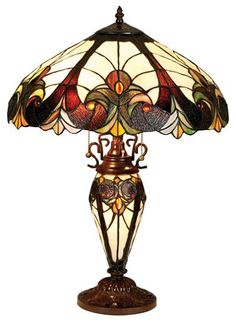 Tiffany Lamps - Stained Glass Lamps - Tiffany Style Lamps    WAY OUT OF MY PRICE RANGE! but I had to pin it bc I just love it!