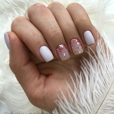 Nail art Christmas - the festive spirit on the nails. Over 70 creative ideas and tutorials - My Nails Dream Nails, Love Nails, Pink Nails, My Nails, Glittery Nails, Gelish Nails, Nail Manicure, Manicures, Paris Nails