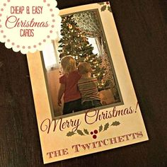 Cheap and Easy Christmas Cards - Twitchetts