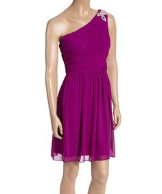 Orchid Embellished Ruched Asymmetrical Dress by Jessica Simpson Collection #zulily #zulilyfinds