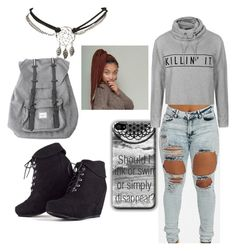 Greyish Fall by anaise-pagan on Polyvore featuring polyvore, fashion, style, Ally Fashion, Herschel and Wet Seal