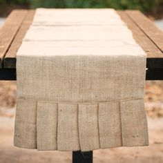 90-inch Burlap Ruffle Table Runner