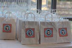 Penguin favor bags