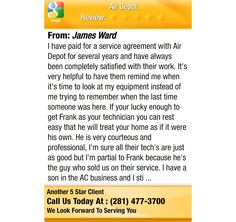 I have paid for a service agreement with Air Depot for several years and have always been...