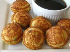 The Other Side of Fifty: Jalapeno Cheddar Cornbread Ebelskivers Brunch Recipes, Breakfast Recipes, Yummy Recipes, Aebleskiver Recipe, Jalapeno Cheddar Cornbread, Biscuit Bread, Chili Cook Off, Pancakes And Waffles, Danish Pancakes