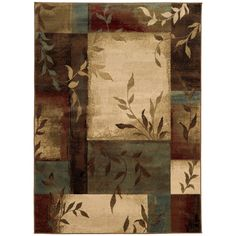 Oriental Weavers of America Harper Multicolor Rectangular Indoor Woven Nature Area Rug (Common: 5 x 8; Actual: 63-in W x 90-in L)