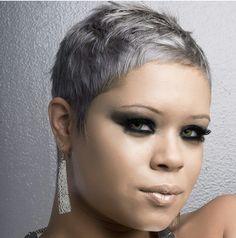 By #jamaledmonds #salinlamaj #silverpixiecut #hairstyles #hairdid #hair