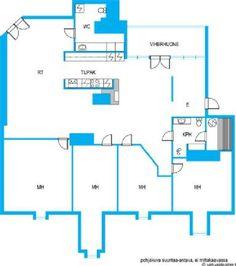 Myydään Kerrostalo 5 huonetta - Helsinki Katajanokka Luotsikatu 9 - Etuovi.com 9595983 Helsinki, Floor Plans, Diagram, Floor Plan Drawing, House Floor Plans