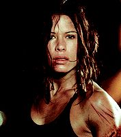 """""""Rhona Mitra as Eden Sinclair in Doomsday """"I'll tell you what I've lost. I've lost my bloody mind. Rhona Mitra, Angled Bobs, Female Vampire, Post Apocalyptic Fashion, Haircut And Color, Celebrity Gallery, Belleza Natural, Underworld, Character Inspiration"""