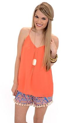 ShopBlueDoor.com: A sweet, chiffon tank with gold buttons down the back! $29
