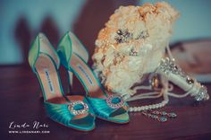 Custom Jeweled Bouquet made by Elegant Wedding Decor by JoAnne @ https://www.etsy.com/shop/Elegantweddingdecor