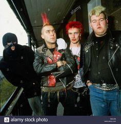 The Exploited Scottish punk group October 1981 - Stock Image