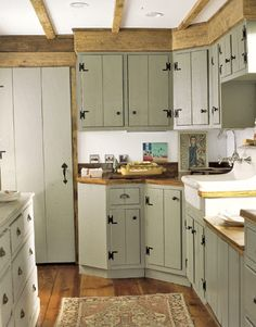 Beautiful green kitchen cabinets