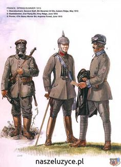 German army in spring of 1915, The gas masks were first used by the germans