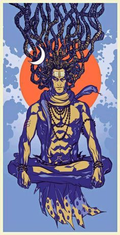 Shiva by Saumin Patel, via Behance Mahakal Shiva, Shiva Art, Hindu Art, Lord Shiva, Indian Gods, Indian Art, Shiva Tattoo, Lord Mahadev, Nataraja