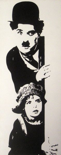 CHAPLIN THE KID).Cuadros realizados a mano por DOMINGO VERA POP ART