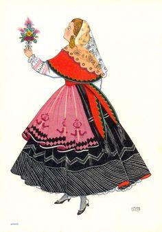 Portuguese traditional costume. Minho Bandeira Portuguesa 24bb77c677479