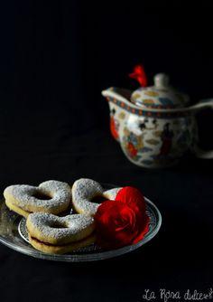 Galletas Linzer San Valentín {sin lactosa}