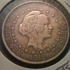 1912 BRAZIL 2000 REIS- SILVER COIN