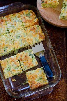 Broccoli Cornbread Squares