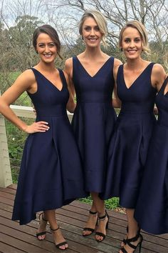 Long Bridesmaid Dresses, Cheap Bridesmaid Dresses ready for sale at online store Simibridaldresses. Pick long bridesmaid dress, cheap bridesmaid dresses, custom made bridesmaid gown, short bridesmaid dresses on Simibridaldresses. High Low Bridesmaid Dresses, Navy Blue Bridesmaid Dresses, Wedding Bridesmaids, Junior Bridesmaids, Prom Dresses, Bridesmaid Ideas, Dress Prom, Bridesmaid Gowns, Short Dresses