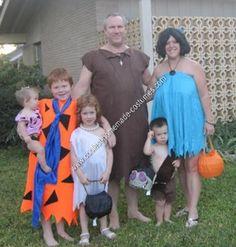 Homemade Flintstone Family Halloween Costume Idea