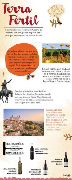 Você sabia que a terra de Pedro Almodóvar e Dom Quixote de La Mancha, a região de Castilla de la Mancha, é a principal exportadora de vinhos da Espanha? #Spain #Espanha #vinho #wine #CastillaLaMancha
