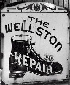 Wellston Shoe Repair Vintage Sign by carlylehold, via Flickr