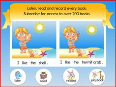 Reading Train Free Learn To Read Books, Songs & Games A growing library of 200+ engaging picture books that beginning readers can read and record all by themselves.  24 books, 20 songbooks and a 450+ word dictionary completely FREE. Access the whole library + new books for $1.99/month; 6.99 for 6 months or 9.99 for a year.