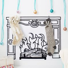 """47 Likes, 3 Comments - Machelle V & Malissa L (@ajoyfulriot) on Instagram: """"Still one of my fave printables of all time 🎄🔥 Perfect for those without a real fireplace or…"""""""