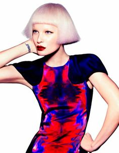 Absolutely gorgeous hair and pastel color design by Toni&Guy (Artelier collection). The shading of pink and mauve are outstanding; the haircut is poetry--or should I say precision--in motion.
