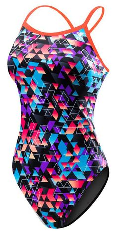 TYR Labyrinth Diamondfit Swimsuit- Multi | Anglo Dutch Pools and Toys