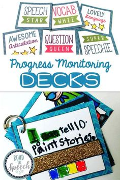 Looking for ways to increase your students' goal awareness and engagement in speech therapy? You and your students will love these progress monitoring decks!