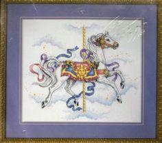Sundancer Carousel Horse Cross Stitch Kit Equestrian Dimensions Toni Baley USA | eBay