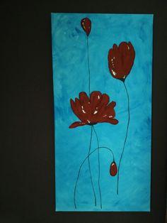 Red flowers - Dipinto su tela