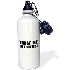 3dRose wb_195652_1 Trust Me Im a ScientistFun Work HumorFunny Science Job Gift Sports Water Bottle 21 oz White ** You can get additional details at the image link.Note:It is affiliate link to Amazon.