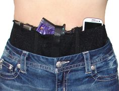 Ladies Womens Concealed Carry Lace Waistband Gun Holster-Hidden Heat Lace-Black in Sporting Goods, Hunting, Holsters, Belts & Pouches Concealed Carry Women, Concealed Carry Holsters, Gun Holster, Concealer, Hidden Weapons, Black Laces, Lady, Carry On, Gadgets