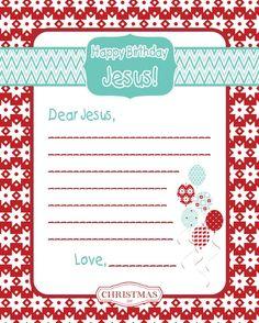 Happy Birthday Jesus letter