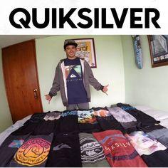 Nuestro atleta de Skate Jhon Bejarano (@j_bejarano), recibiendo su arsenal para afrontar su próxima competencia fuera del país. Quiksilver Colombia #ActitudQuik #QuikStyle #Skateboarding