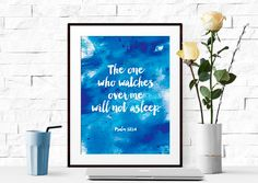 Bible Verse Print Printable Art Home Decor Wall Art Typography Wall Decor Home Decor instant download by Wemakeyouhappy on Etsy