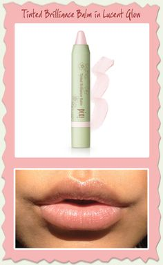 Tinted Brilliance Balm in Lucent Glow. I love doing a nice pink lip when I have a good tan.