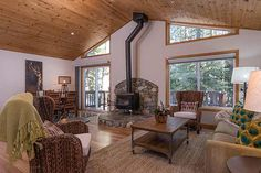 Here's a delightful Tahoe Donner cabin offering 3 large bedrooms, 2 baths, spacious great room, open kitchen and much more!