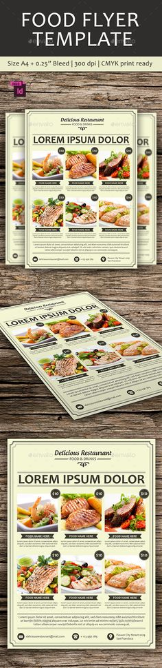 Food Flyer Template - Restaurant Flyers