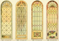 Leaded Glass from International Art Glass Catalogue by National Ornamental Glass Manufacturers Association of the United States and Canada, published in Stained Glass Rose, Stained Glass Church, Modern Stained Glass, Making Stained Glass, Stained Glass Designs, Stained Glass Patterns, Modern Glass, Stained Glass Windows, Art Nouveau